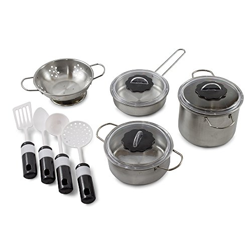 Kidsthrill Kids Mini  Pots And Pans Set  Metal  Cooking
