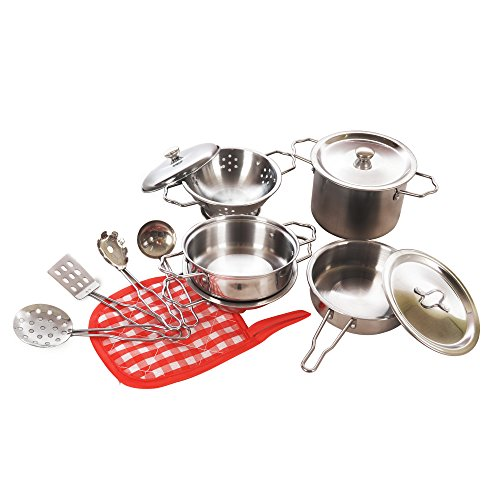 Toy Pots And Pans : Kidami kitchen pretend toys stainless steel cookware