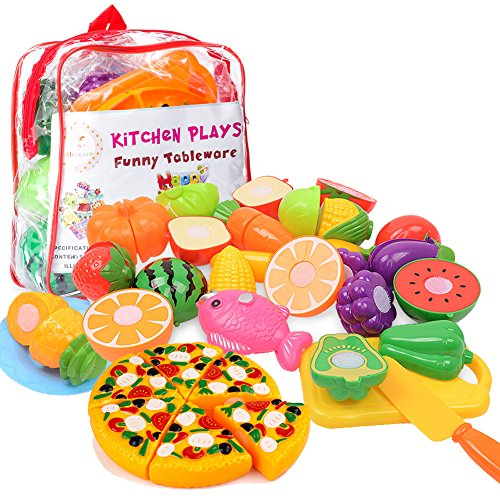 Kitchen toys fun cutting fruits vegetables pretend food playset for children girls boys for Kitchen set toys r us philippines