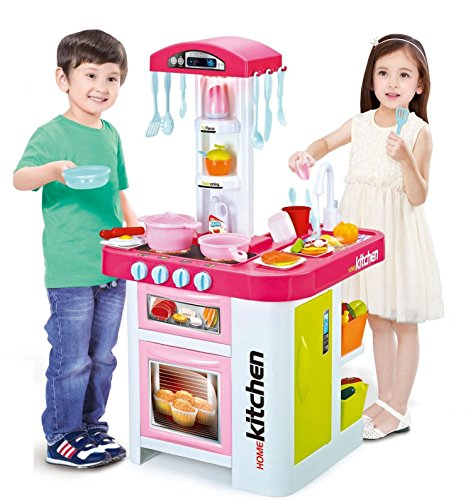 Electronic Kitchen Set: Childrens Toy Electronic Kitchen Set With Working Water